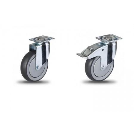 JDPE/BDPE колесо на площадке с серым протектором из термопластичной резины