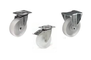 PN (BXPN 1603) Полиамидное колесо на площадке с кронштейном из нержавеющей стали