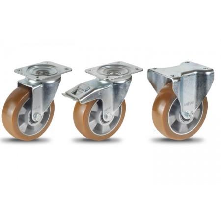 AU Алюминиево-полиуретановое колесо на площадке для средних нагрузок