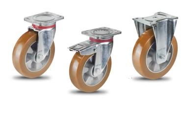 AU Алюминиево-полиуретановое колесо на площадке для больших нагрузок