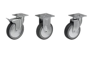 Аппаратное колесо JD-BD с протектором серого цвета на площадке